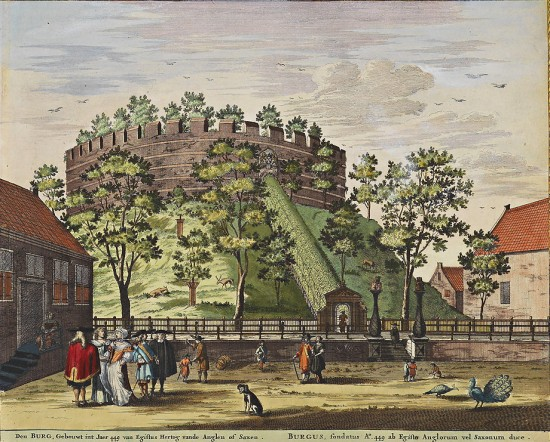Castle of Leiden in a 1698 print