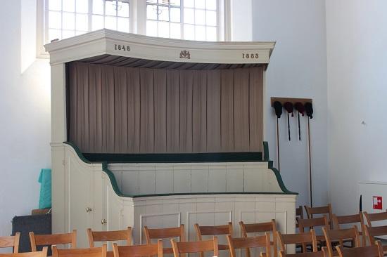 Princess Marianne's own seating arrangement in church