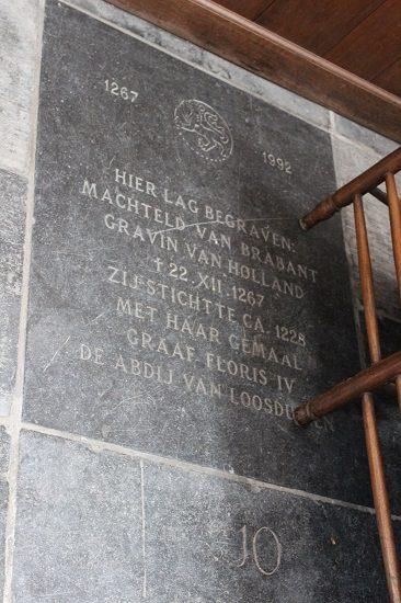 Plaque for Matilda of Brabant (Machteld van Brabant)