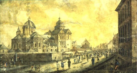 Munster Abbey in the 18th century
