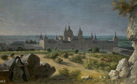 View of El Escorial, by Michel-Ange Houasse (1723)