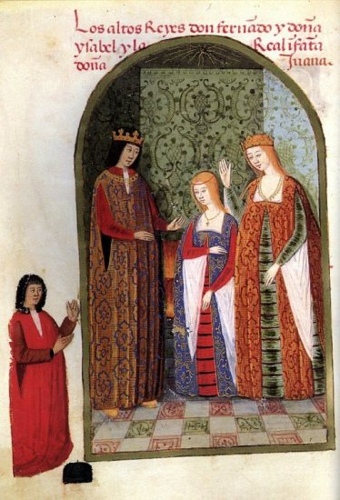 Isabella and Ferdinand with their daughter Joanna