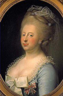 Caroline Matilde wearing the order