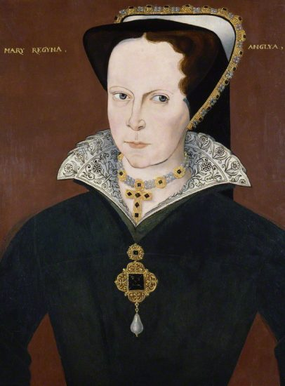Queen Mary I by Unknown artist oil on panel, 1597-1618 NPG 4980(16) © National Portrait Gallery, London