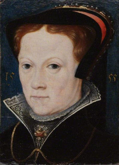 Queen Mary I after Anthonis Mor (Antonio Moro) oil on panel, 1555 NPG 4174 © National Portrait Gallery, London