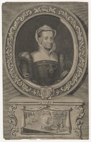 Fictitious portrait called Queen Mary I by James Smith, after Edward Lutterell (Luttrell) line engraving, mid 18th century NPG D21386 © National Portrait Gallery, London