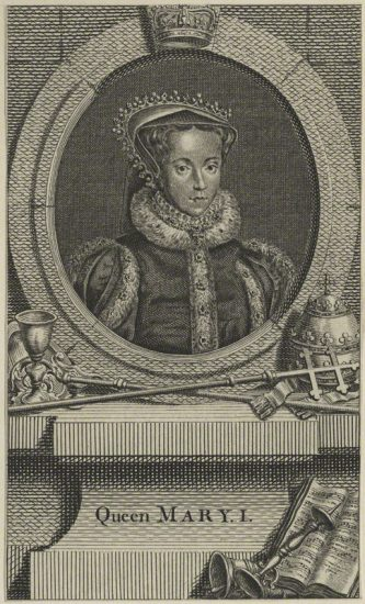 Queen Mary I after Unknown artist line engraving, probably 18th century NPG D24877 © National Portrait Gallery, London