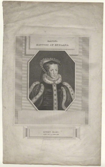 Queen Mary I published by James and John Cundee, after Hans Eworth stipple engraving, published 1815 NPG D41901 © National Portrait Gallery, London