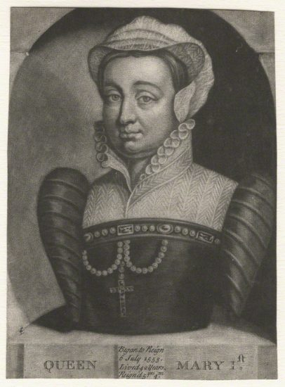 Queen Mary I after Unknown artist mezzotint, 18th century NPG D17823 © National Portrait Gallery, London