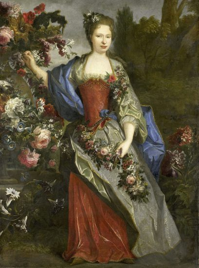 Marie Louise Élisabeth d'Orléans, Duchess of Berry as Flora, 1712